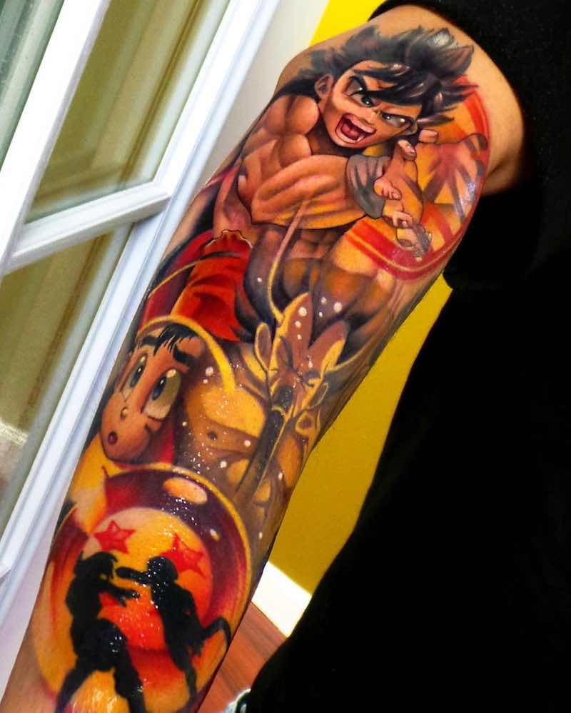 Dragon Ball Z Tattoo by Steven Compton