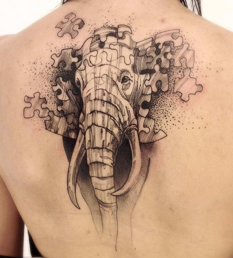 Elephant Tattoo Victor Montaghini