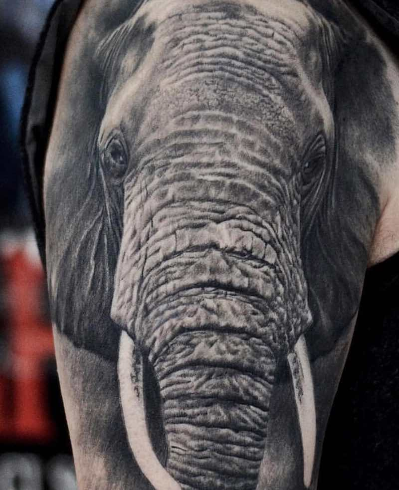 Elephant Tattoo by Cigla