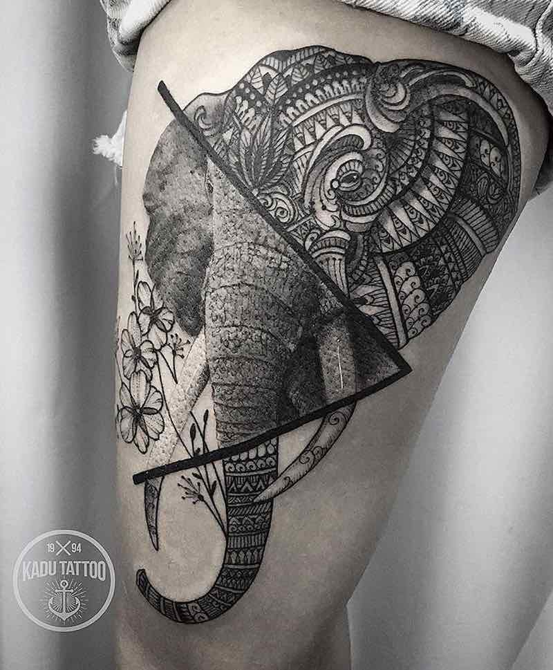 Elephant Tattoo by Kadu Tattoo