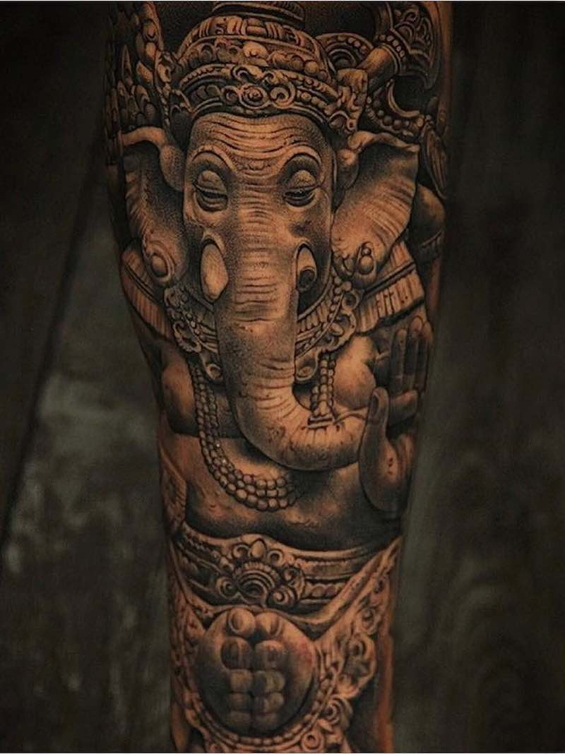Elephant Tattoo by Miguel Ochoa