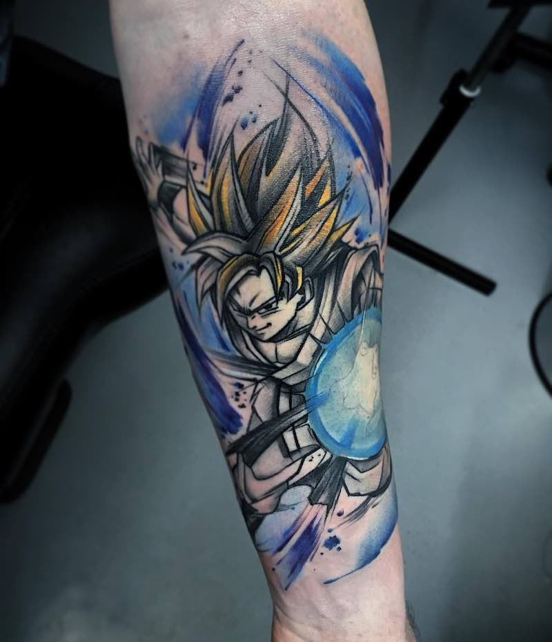 Goku Tattoo by Aleksandra Kozubska
