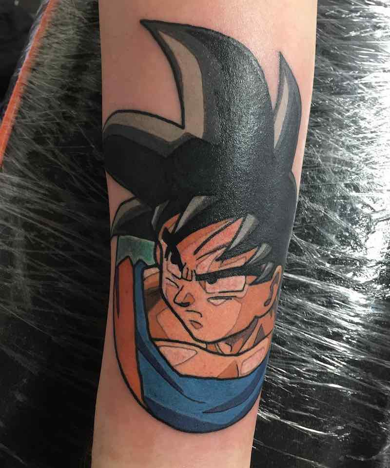 Goku Tattoo by Ashley Newton