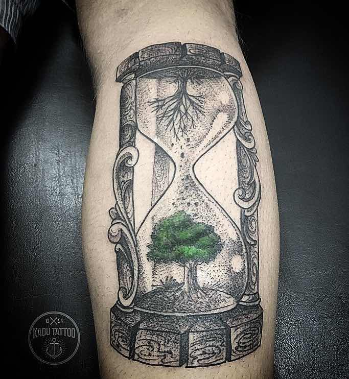 Hourglass Tree Tattoo by Kadu