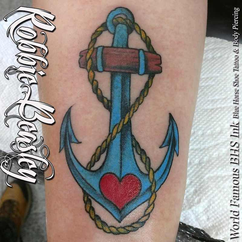 Infinity Anchor Tattoo by Robbie Beasley