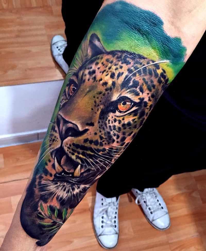 Jaguar Tattoo by Abraham Daza