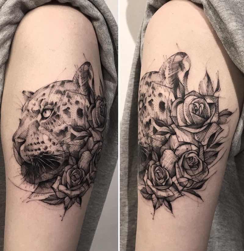 Jaguar Tattoo by Bk Tattooer
