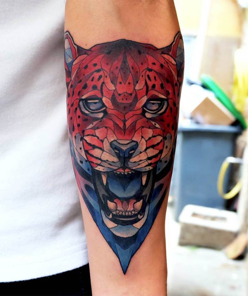 Jaguar Tattoo by Dusty Brasseur