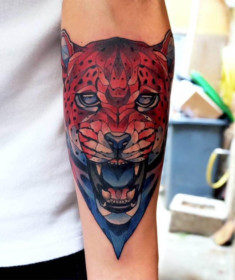 Jaguar Tattoo by Dusty Brasseur