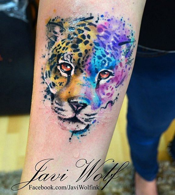 Jaguar Tattoo by Javi Wolf