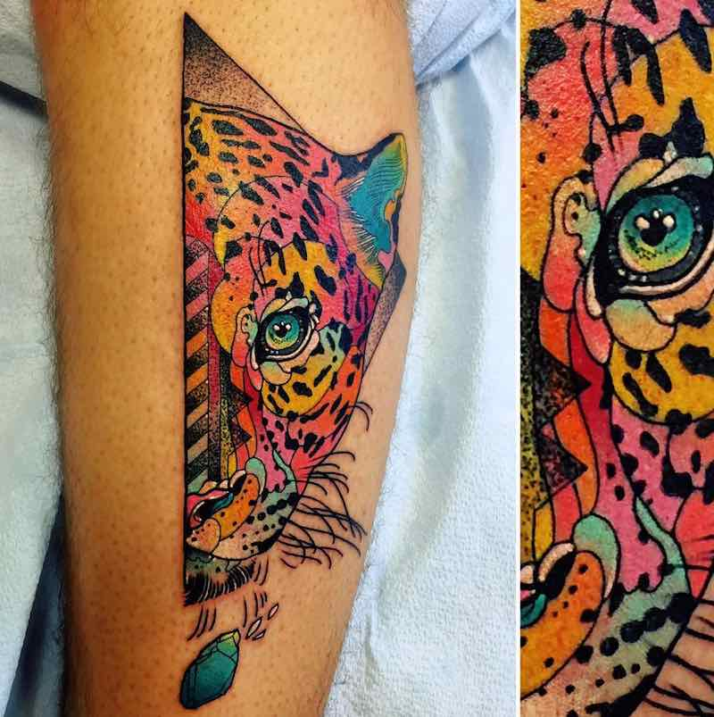 Jaguar Tattoo by Katie Shocrylas