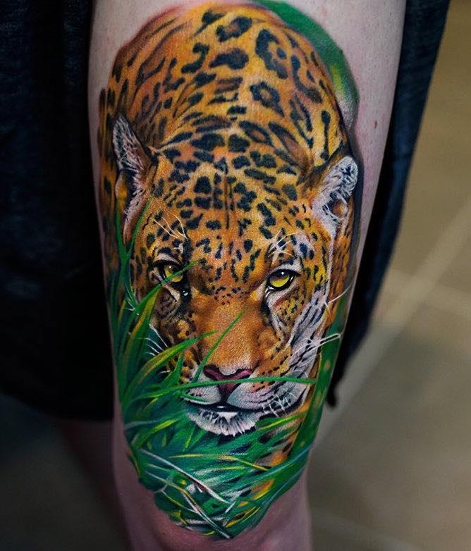 Jaguar Tattoo by Khan Tattoo