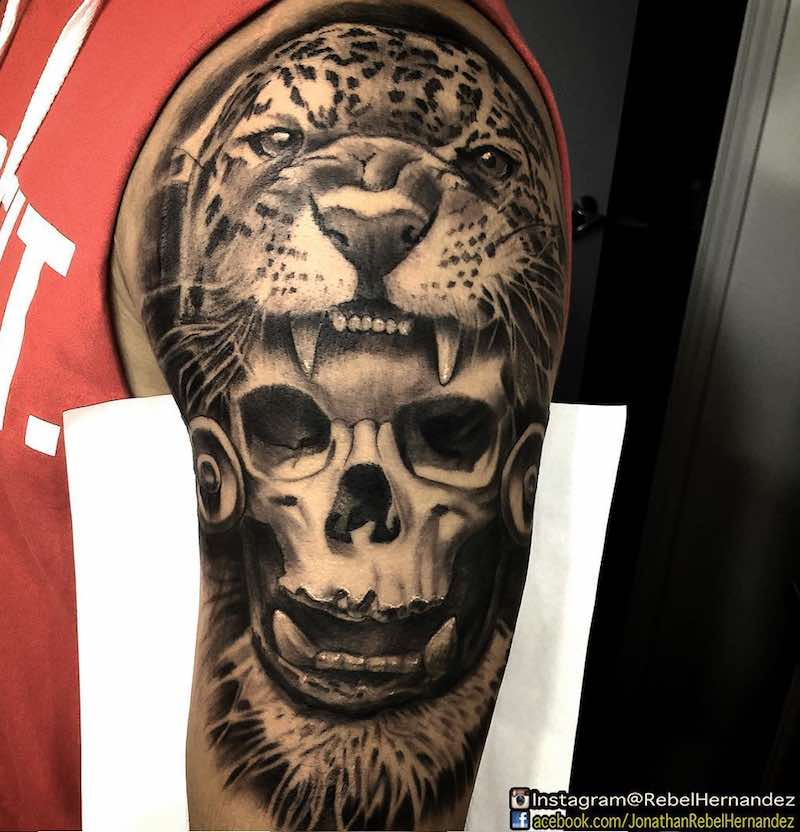 Jaguar Tattoo by Rebel Hernandez