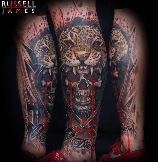 Jaguar Tattoo by Russell James