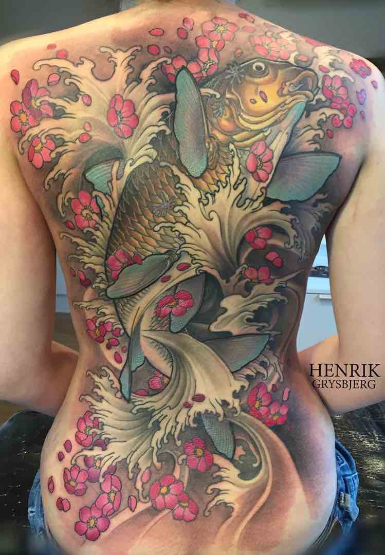 Koi Tattoo by Henrik Grysbjerg