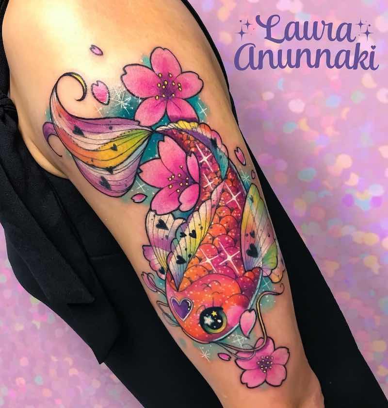 Koi Tattoo by Laura Anunnaki