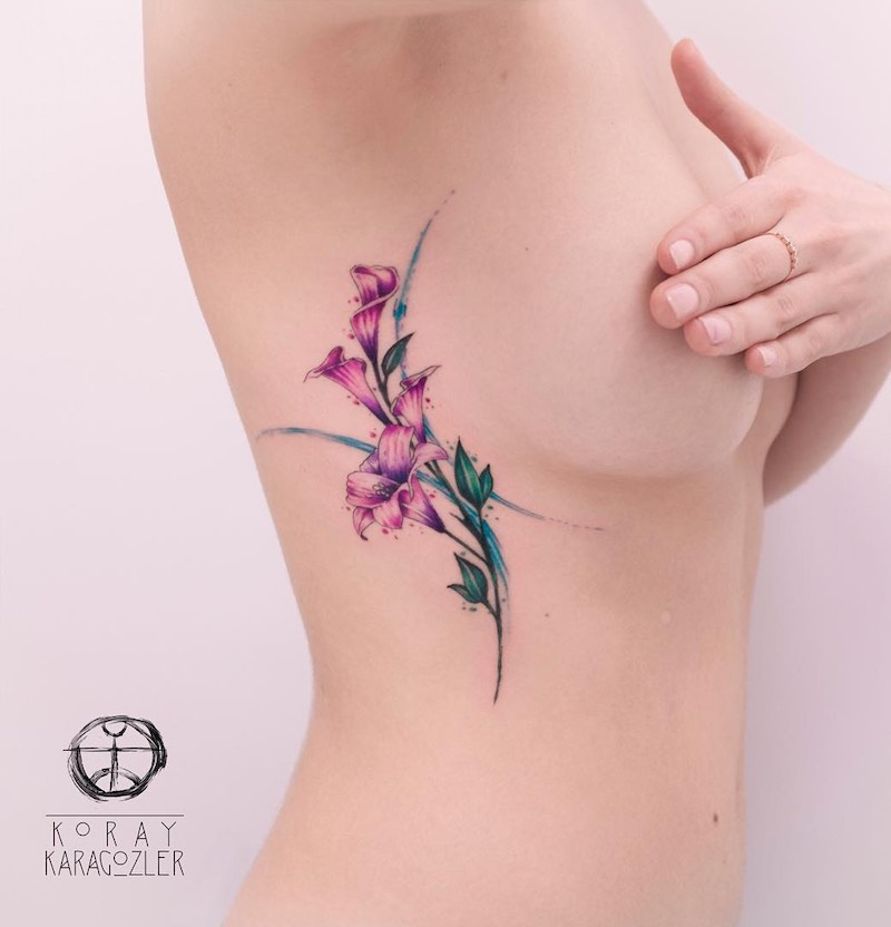 Lily Tattoo by Koray Karagozler