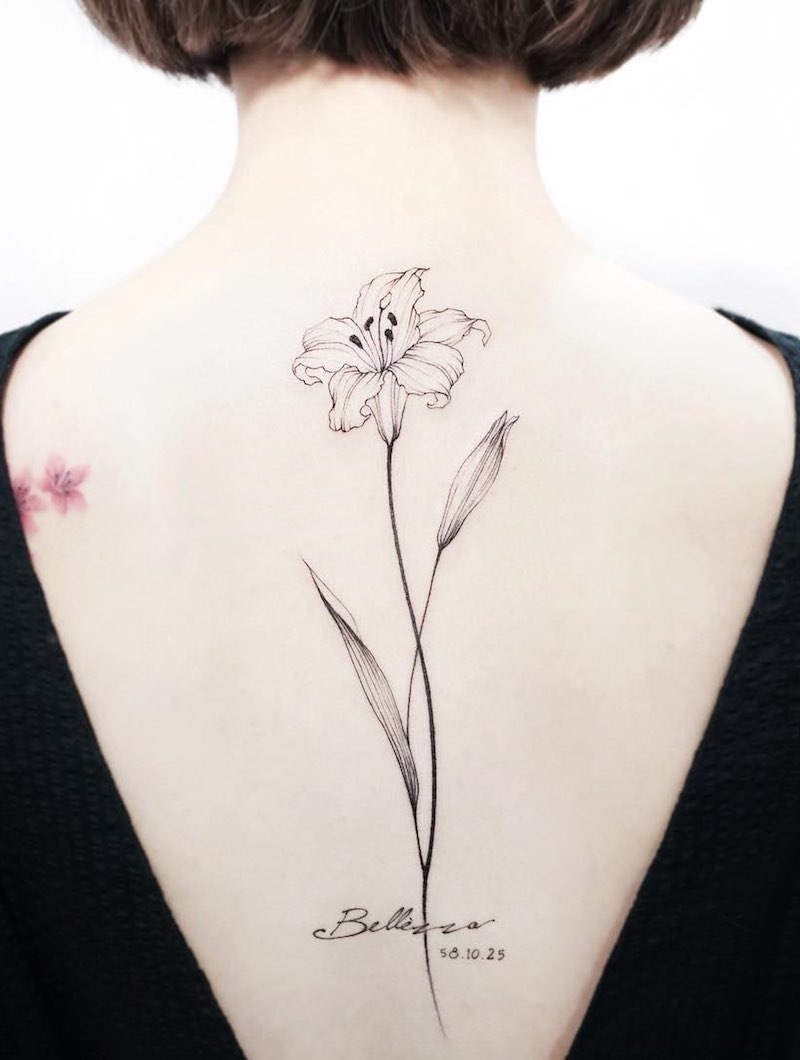 Lily Tattoo by Tattooist IDA