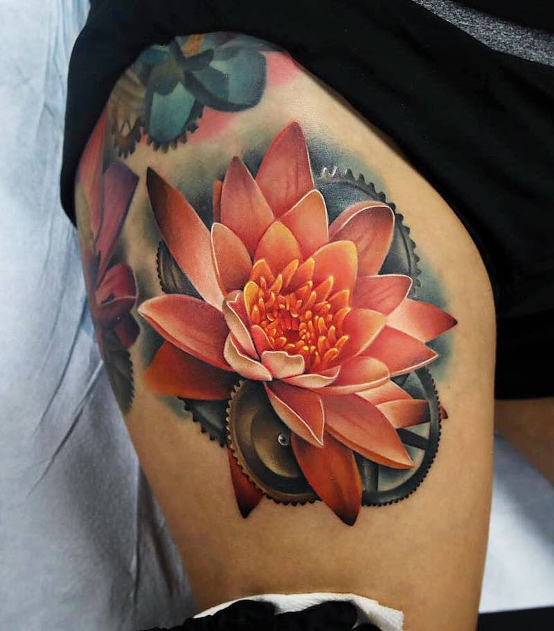 Lotus Tattoo by Andrés Acosta