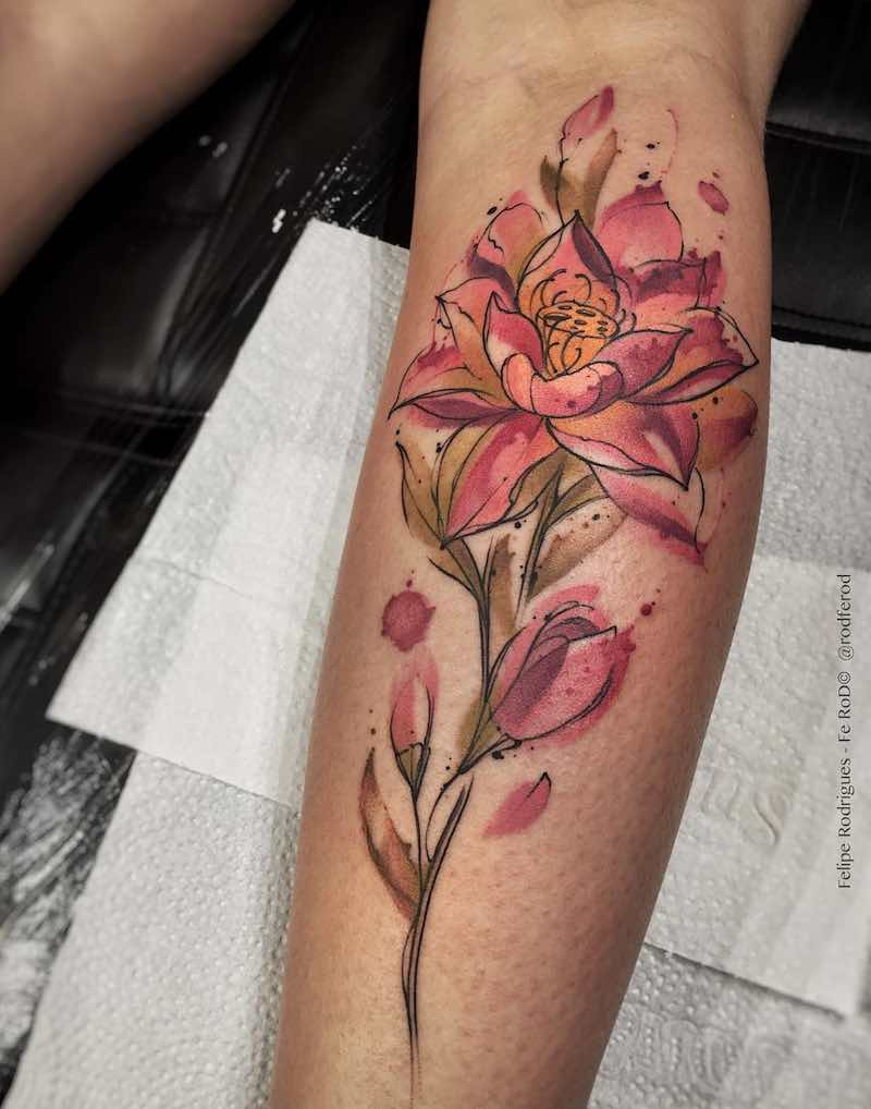 Lotus Tattoo by Felipe Rodrigues