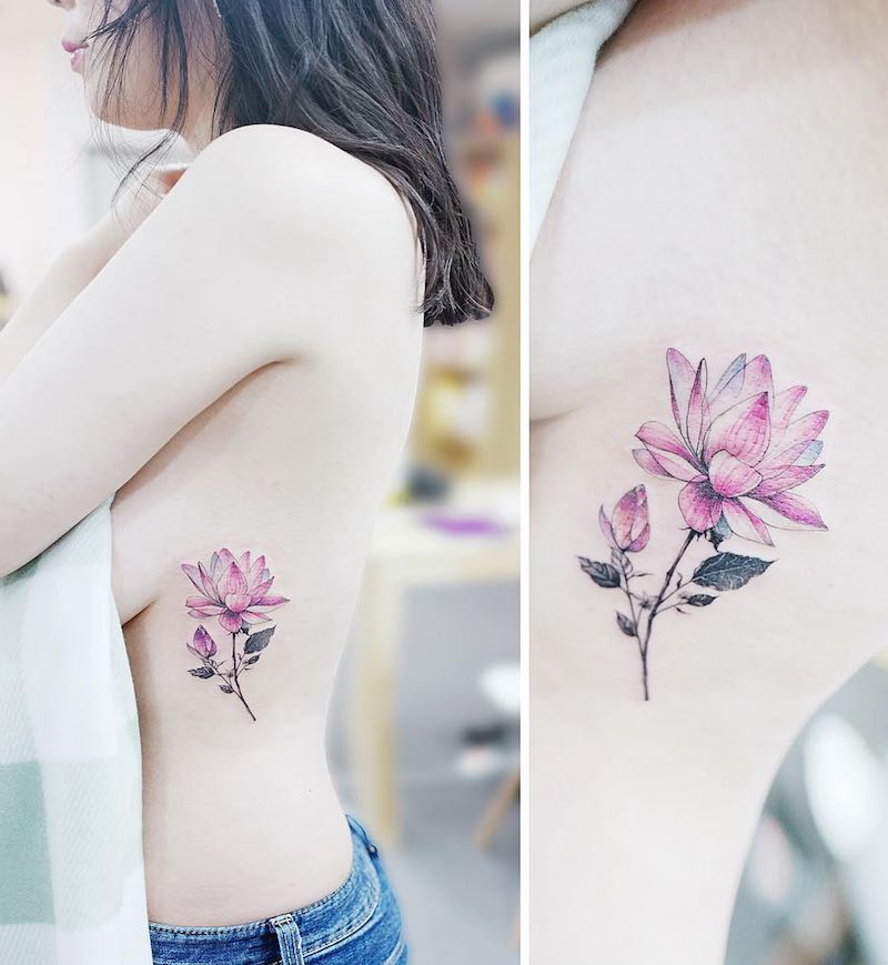Lotus Tattoo by Tattooist Banul