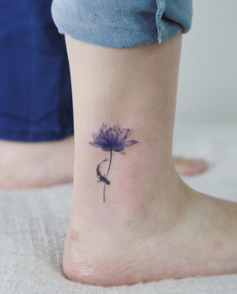 Lotus Tattoo by Tattooist Flower