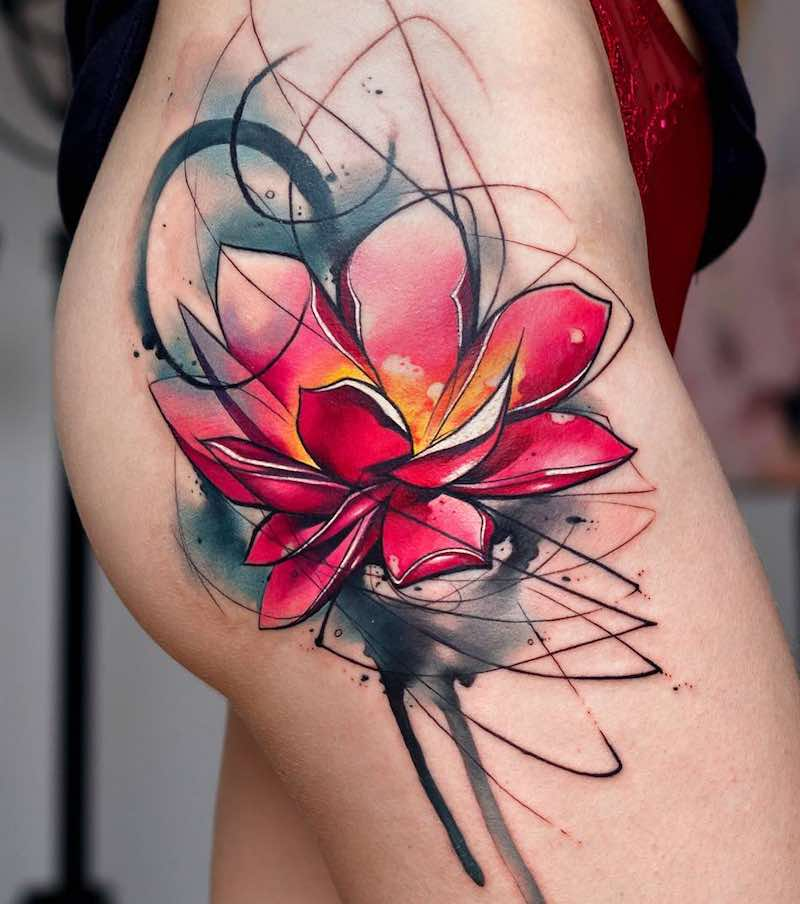 Lotus Tattoo by Uncl Paul Knows