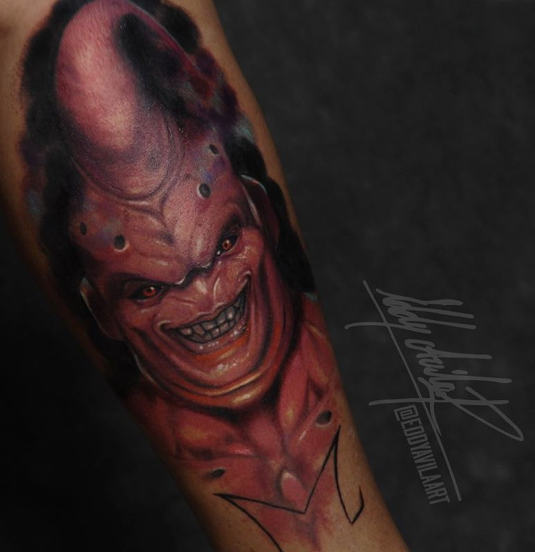 Majin Buu Tattoo by Eddy Avila