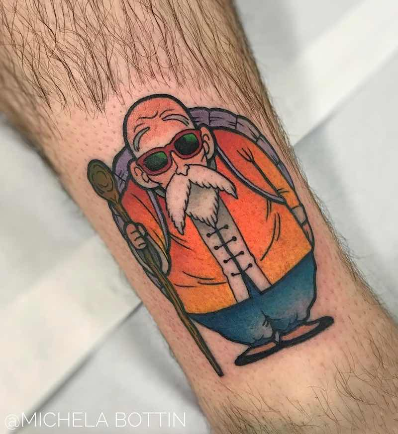 Master Roshi Tattoo by Michela Bottin