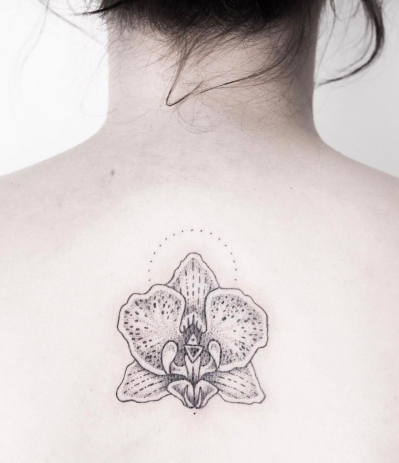 Orchid Tattoo by Anna Reh
