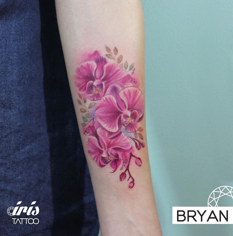 Orchid Tattoo by Bryan Gutierrez
