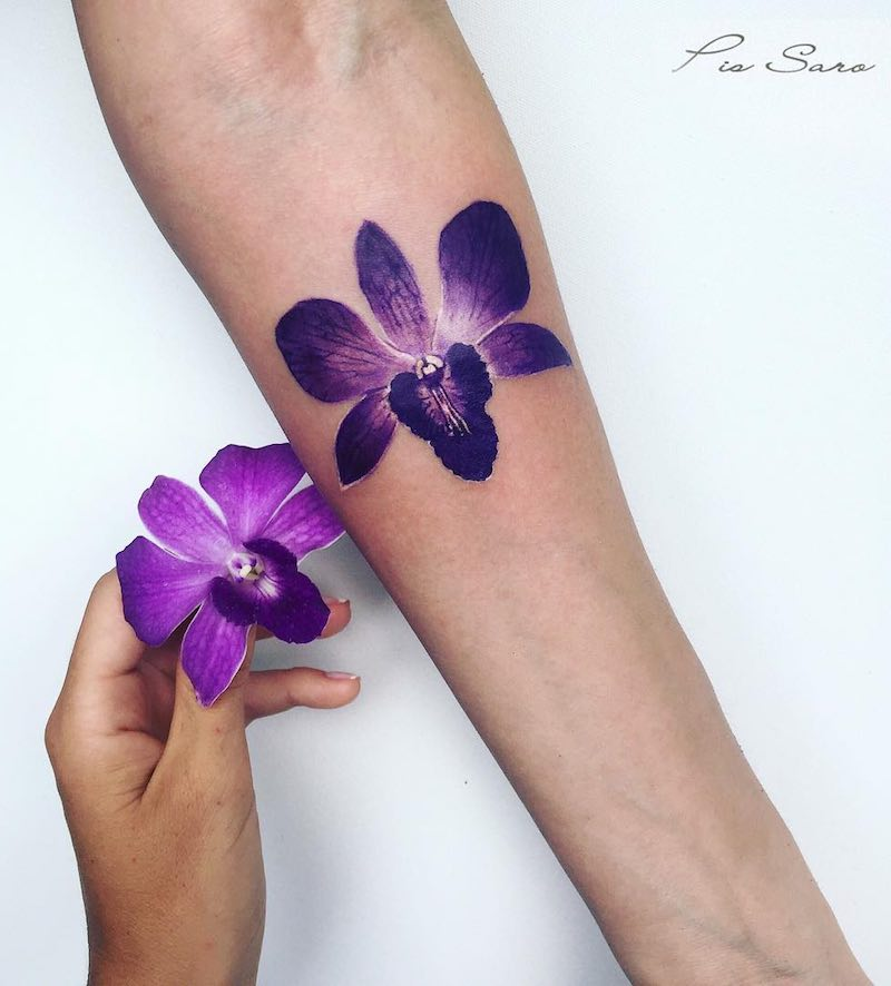 Orchid Tattoo by Pis Saro