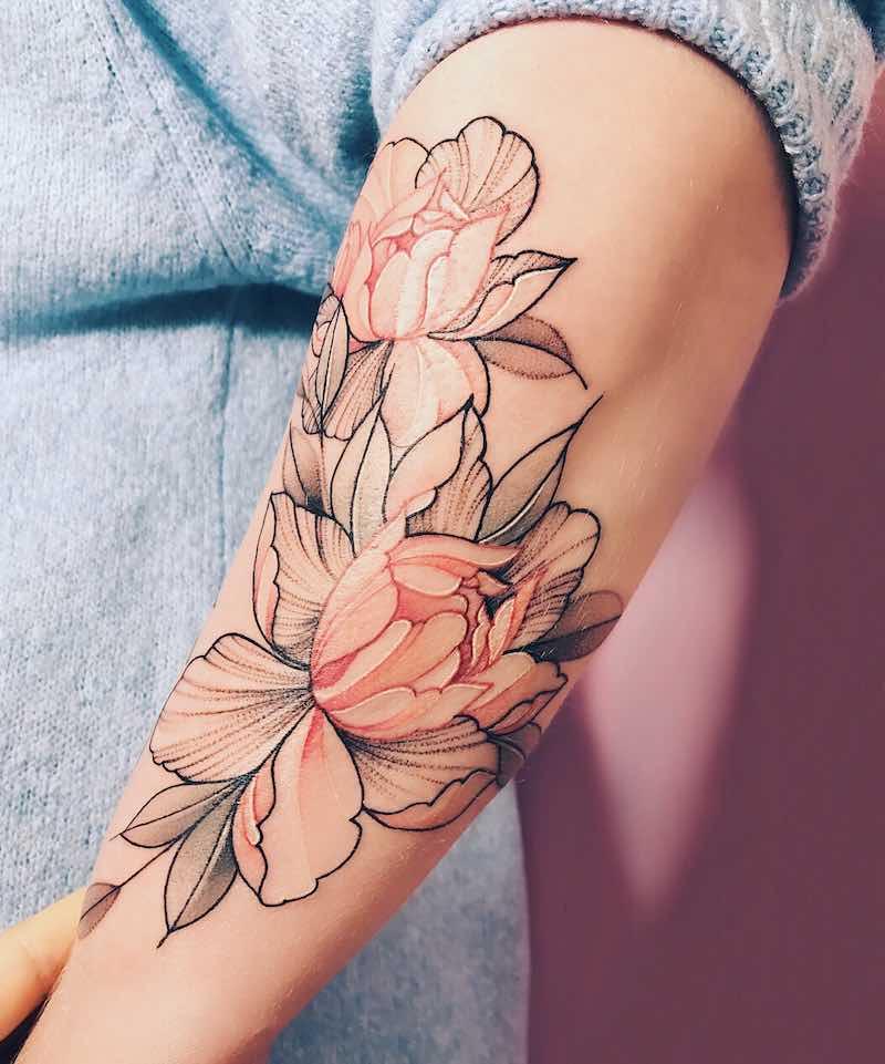 Peony Tattoo - Nora Ink