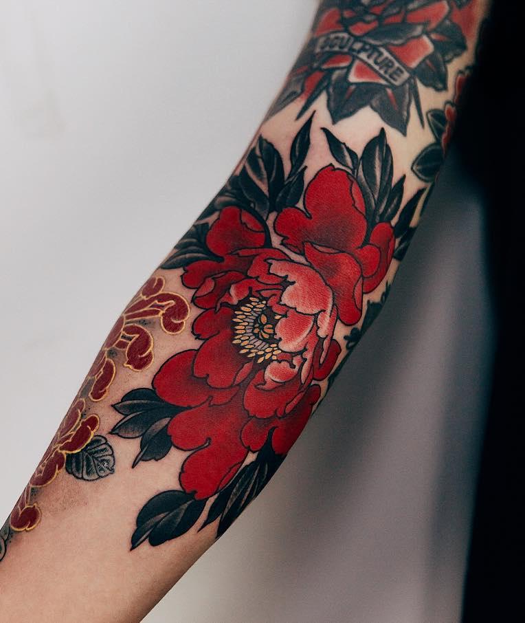 Peony Tattoo by Jinpil Yuu