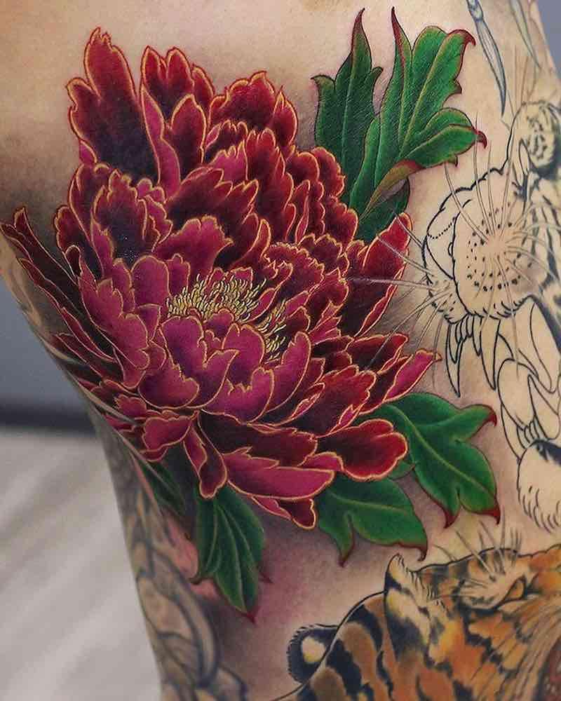 Peony Tattoo by Kenji Shigehara