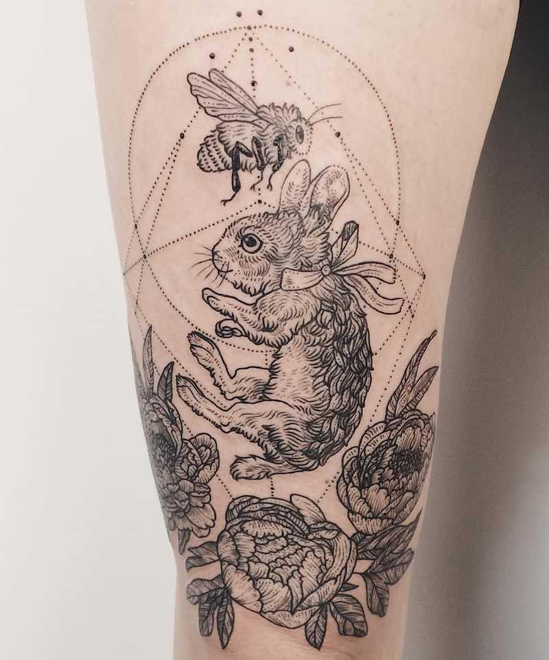Peony Tattoo by Pony Reinhardt