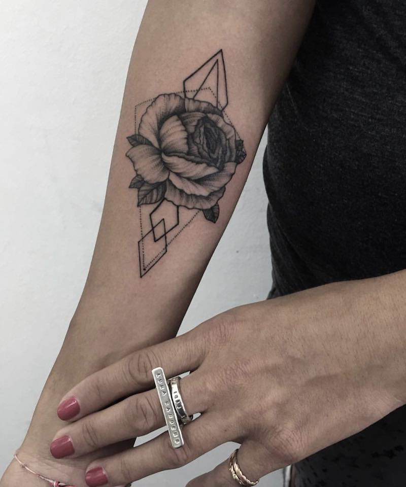 Peony Tattoo by Sasha Masiuk