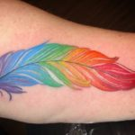 Rainbow Feather Tattoo - Ashton Allen