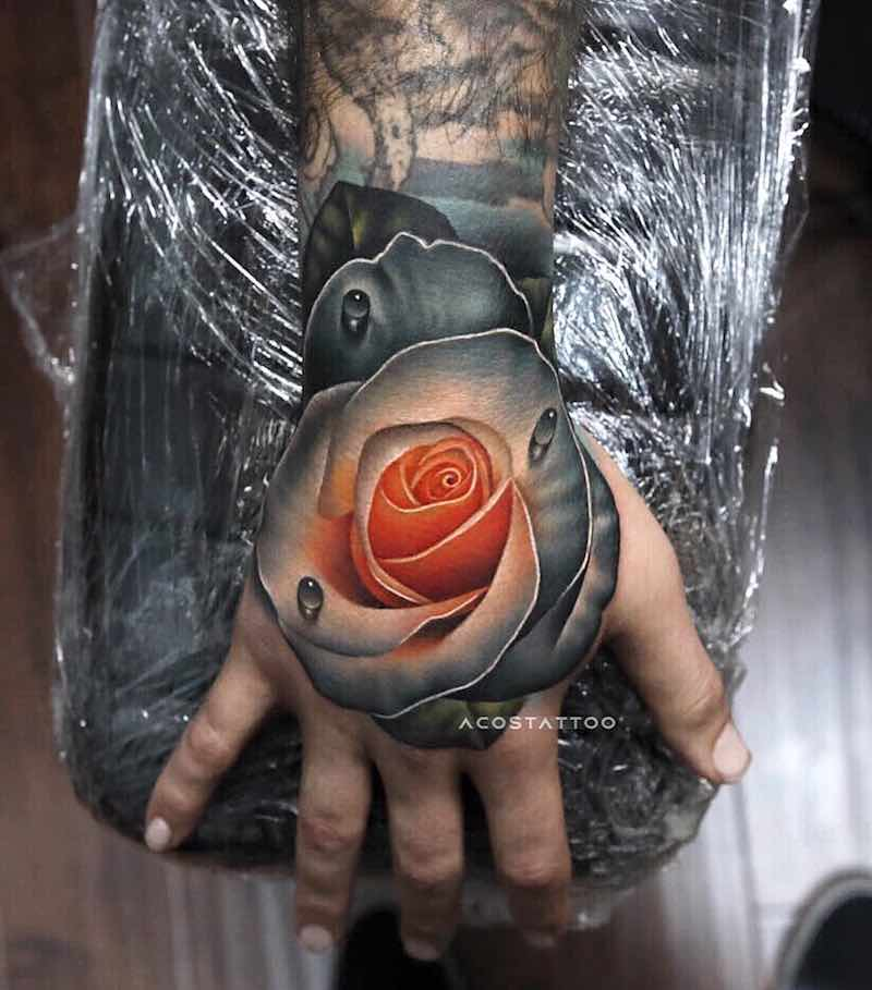 Rose Tattoo by Andrés Acosta