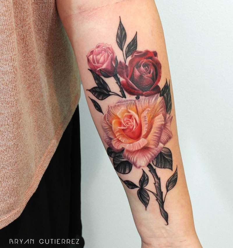 Rose Tattoo by Bryan Gutierrez