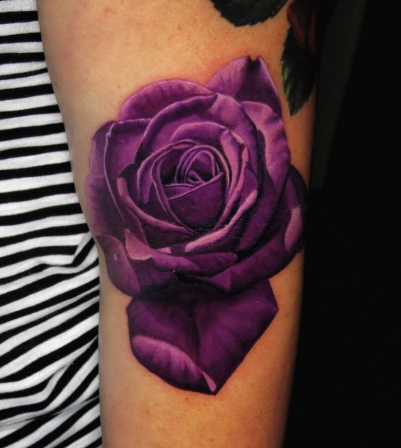 Rose Tattoo by Jose Guevara Morales