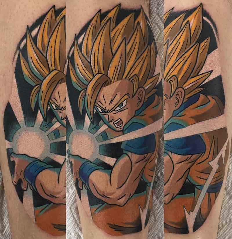 SS Goku Tattoo by Adam Perjatel