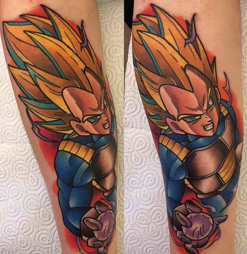 SS Vegeta Tattoo by Dane Grannon