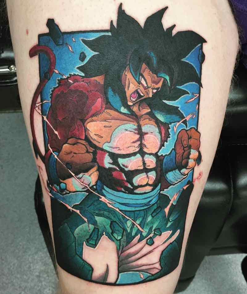 SSJ4 Goku Tattoo by Ashley Newton