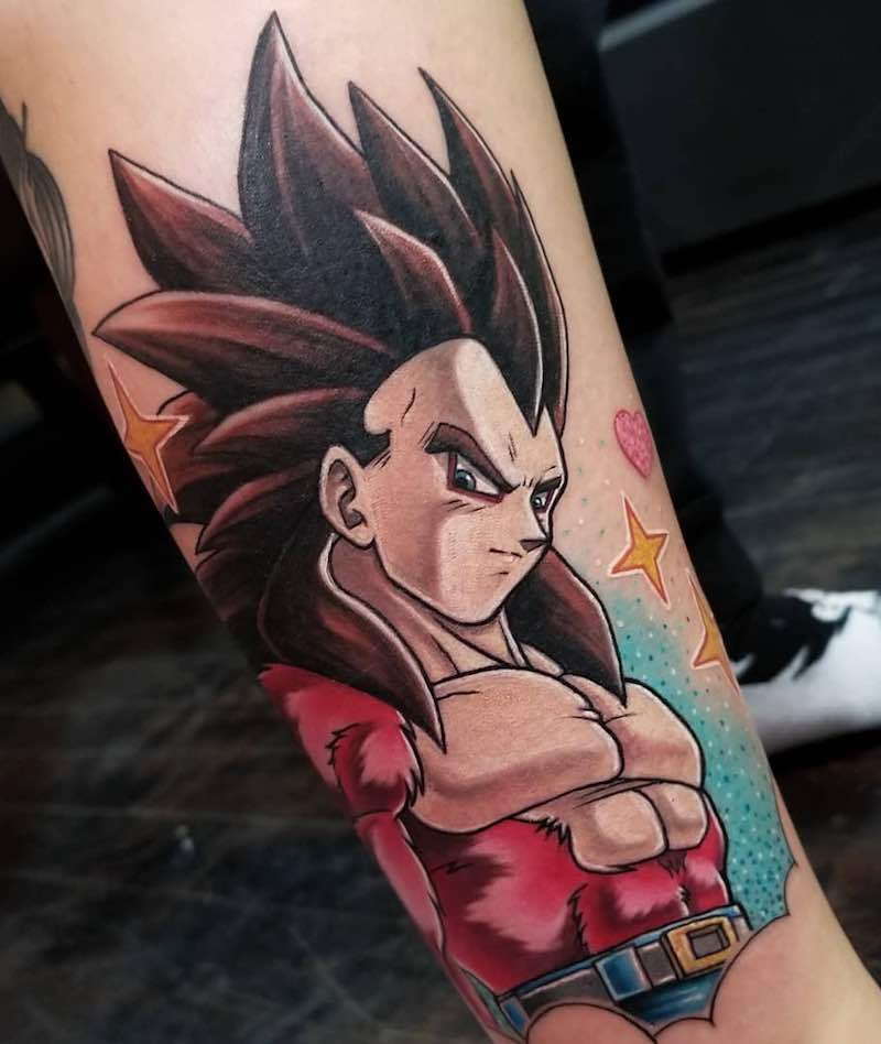 SSJ4 Goku Tattoo by Nicole Willingham