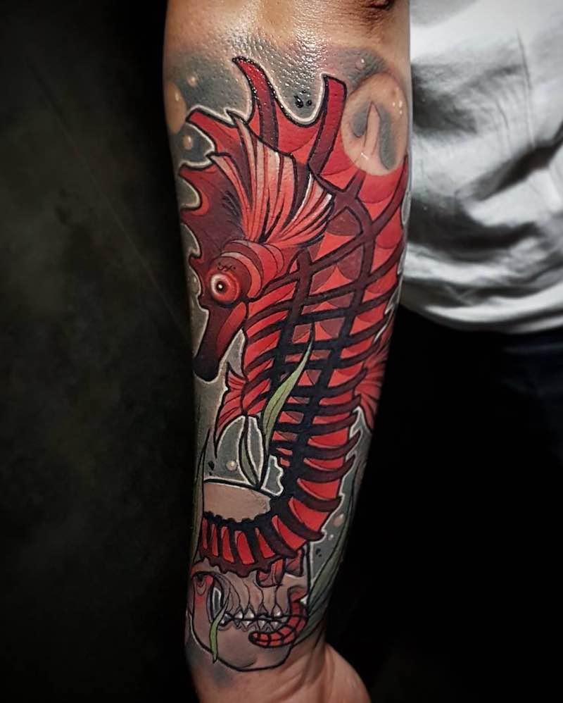 Seahorse Tattoo Eric Moreno