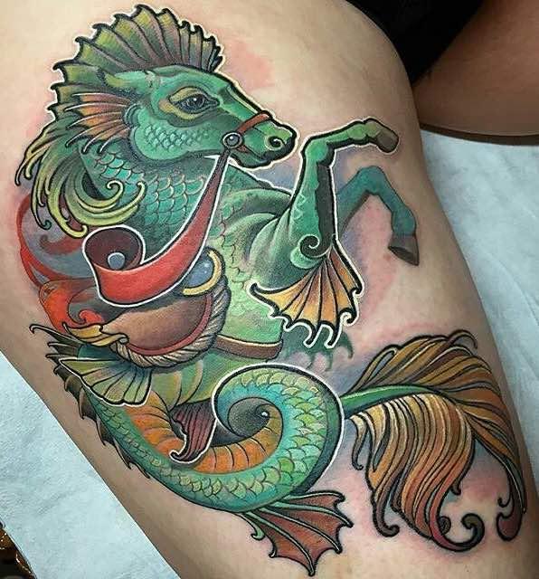 Seahorse Tattoo by Matt Stebly