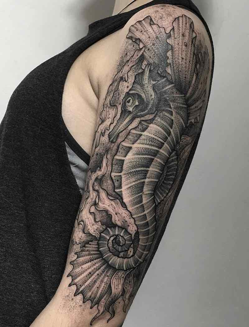 Seahorse Tattoo by Parvicx