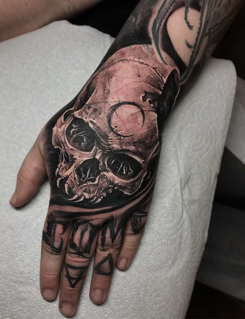 Skull Tattoo by Anrijs Straume
