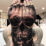 Skull Tattoo by Drew Apicture